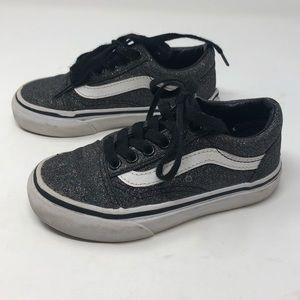 Vans old skool 10.5 toddler black glitter